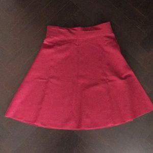 High waist A-line short skirt